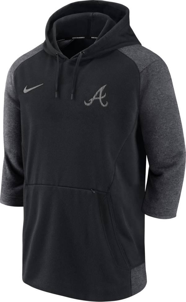 Nike Men's Atlanta Braves Gray  ¾ Flux Hoodie product image