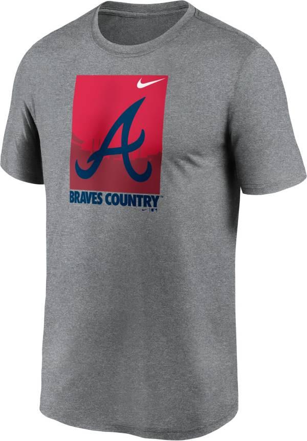 Nike Men's Atlanta Braves Gray Local Legend T-Shirt product image