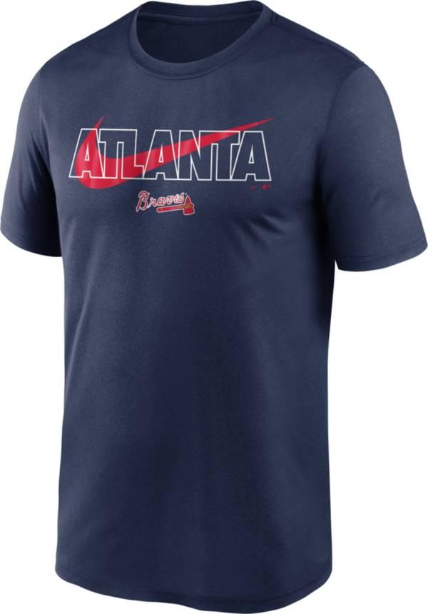 Nike Men's Atlanta Braves Navy Swoosh Legend T-Shirt product image