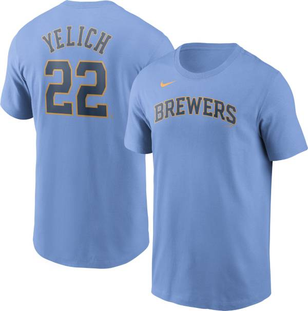 Nike Men's Milwaukee Brewers Christian Yelich #22 Ligh Blue T-Shirt product image