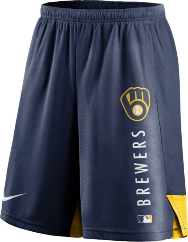 Nike Men's Milwaukee Brewers Navy Authentic Collection Training Short product image