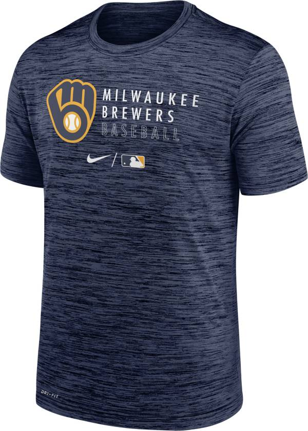 Nike Men's Milwaukee Brewers Navy Authentic Collection Velocity Practice T-Shirt product image