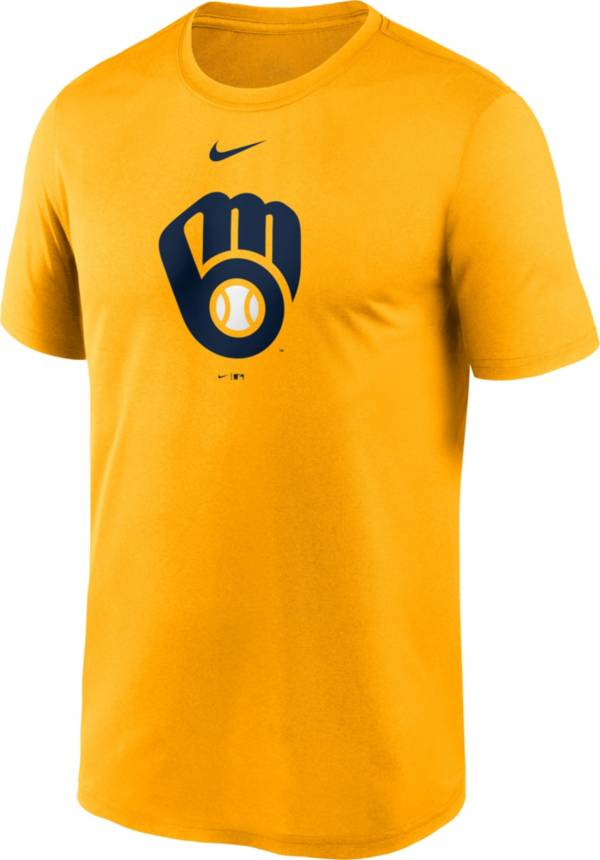 Nike Men's Milwaukee Brewers Gold Logo Legend T-Shirt product image
