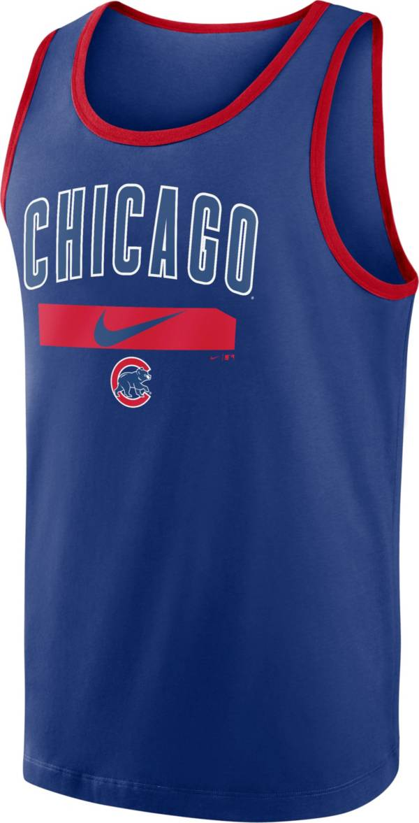 Nike Men's Chicago Cubs Blue Cotton Tank Top product image