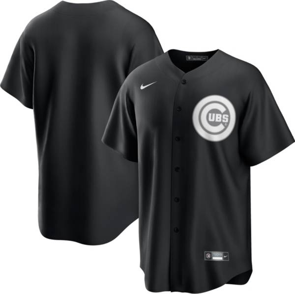 Nike Men's Chicago Cubs Black Cool Base Jersey product image