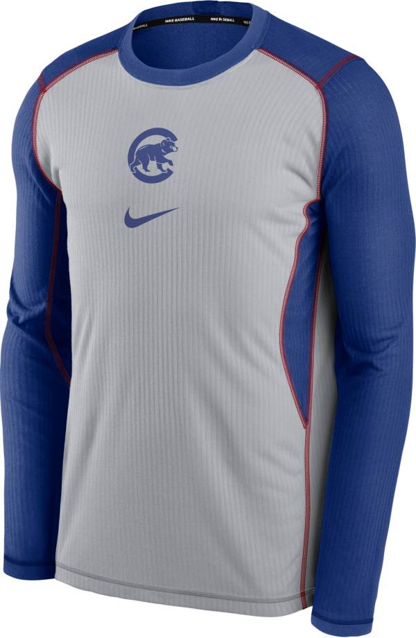 Nike Men's Chicago Cubs Blue Authentic Collection Game Long Sleeve T-Shirt product image