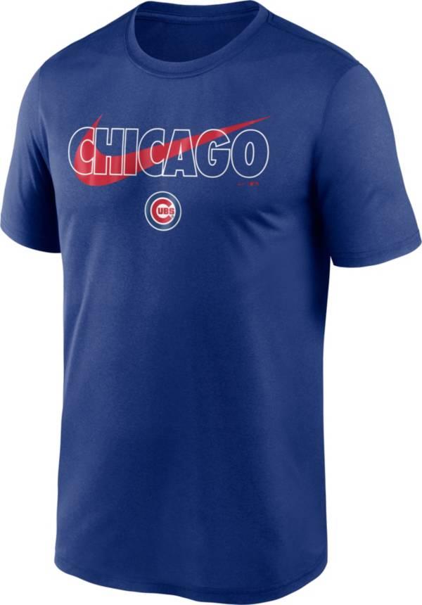 Nike Men's Chicago Cubs Blue Swoosh Legend T-Shirt product image