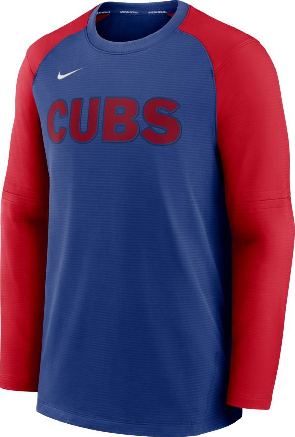 Nike Men's Chicago Cubs Blue Authentic Collection Pre-Game Long Sleeve T-Shirt product image