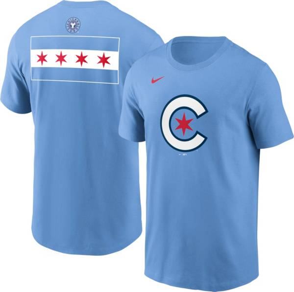 Nike Men's Chicago Cubs Blue 2021 City Connect Graphic T-Shirt product image