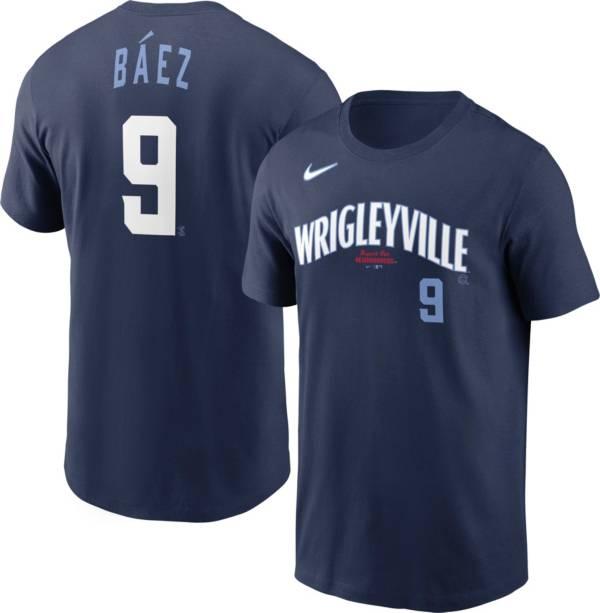 Nike Men's Chicago Cubs Javier Báez #9 Navy 2021 City Connect T-Shirt product image