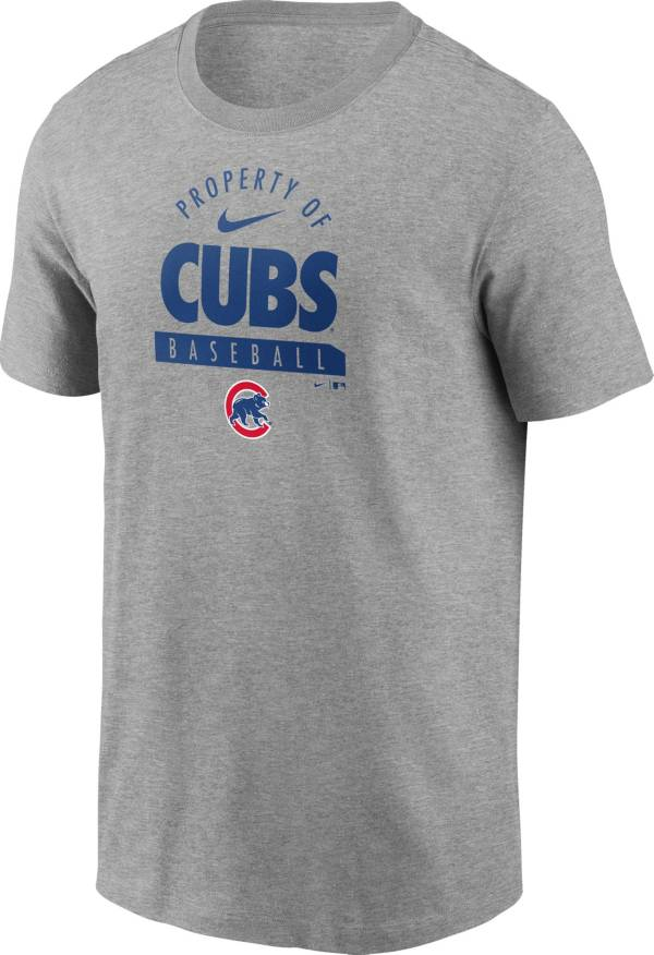 Nike Men's Chicago Cubs Grey 'Property Of' T-Shirt product image