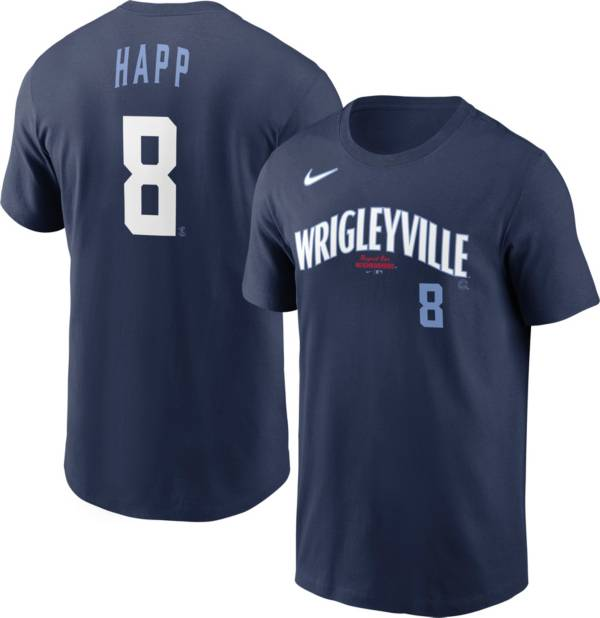 Nike Men's Chicago Cubs Ian Happ #8 Navy 2021 City Connect T-Shirt product image