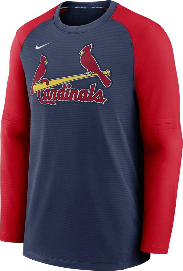 Nike Men's St. Louis Cardinals Navy Authentic Collection Pre-Game Long Sleeve T-Shirt product image