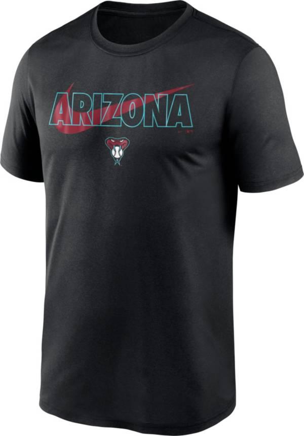 Nike Men's Arizona Diamondbacks Black Swoosh Legend T-Shirt product image