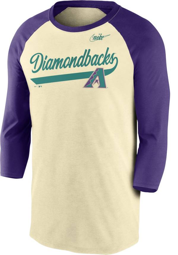 Nike Men's Arizona Diamondbacks Cream Cooperstown Raglan Three-Quarter Sleeve Shirt product image