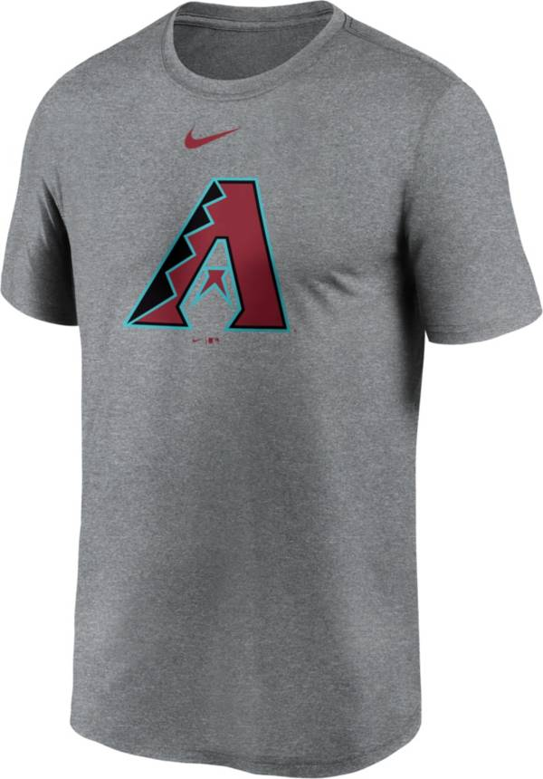 Nike Men's Arizona Diamondbacks Grey Logo Legend T-Shirt product image