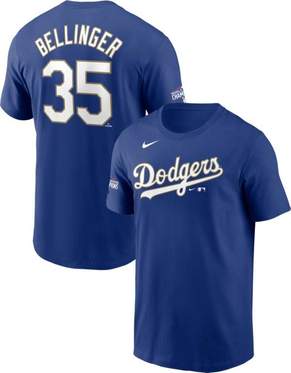 Nike Men's Los Angeles Dodgers Gold Collection Cody Bellinger #35 T-Shirt product image