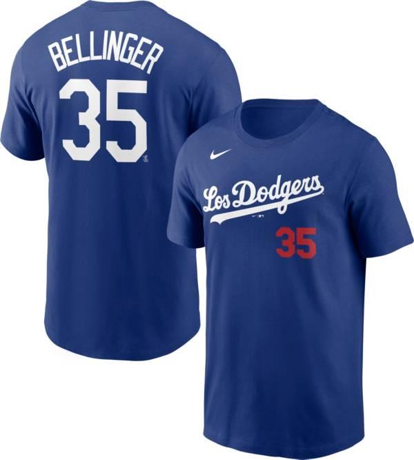 Nike Men's Los Angeles Dodgers Cody Bellinger #35 Royal 2021 City Connect T-Shirt product image