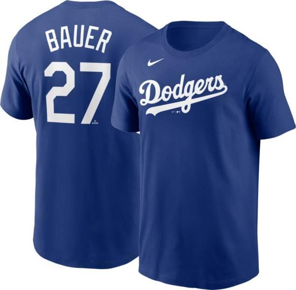Nike Men's Los Angeles Dodgers Trevor Bauer #27 Royal T-Shirt product image