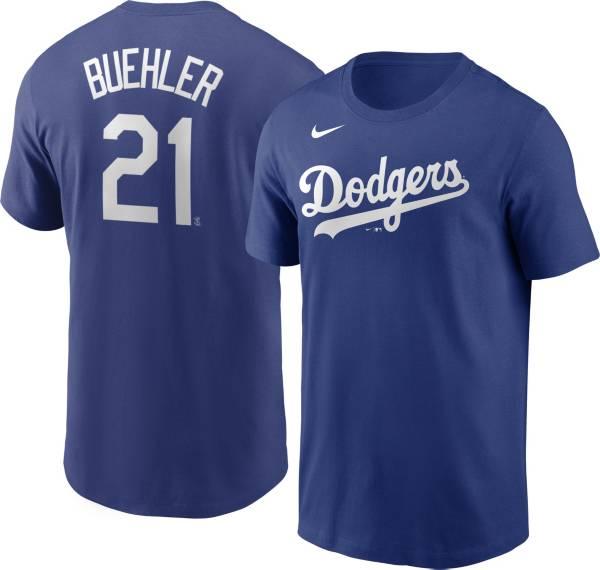 Nike Men's Los Angeles Dodgers Walker Buehler #21 Blue T-Shirt product image