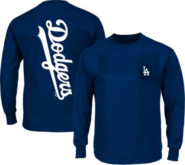 Nike Men's Los Angeles Dodgers Royal Sideline Dri-Fit Long Sleeve T-Shirt product image