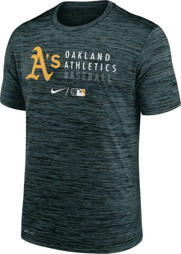 Nike Men's Oakland Athletics Green Authentic Collection Velocity Practice T-Shirt product image