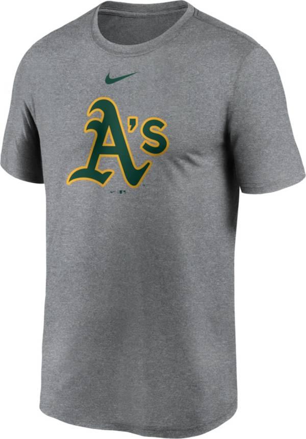 Nike Men's Oakland Athletics Grey Logo Legend T-Shirt product image