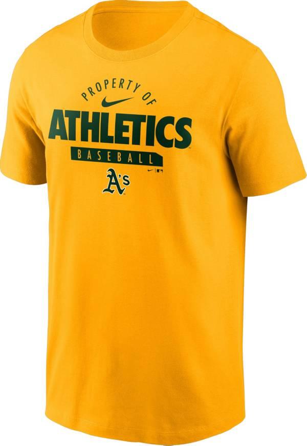 Nike Men's Oakland Athletics Gold 'Property Of' T-Shirt product image