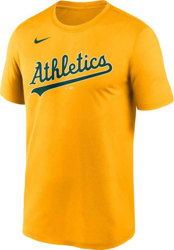 Nike Men's Oakland Athletics Gold Wordmark Legend T-Shirt product image