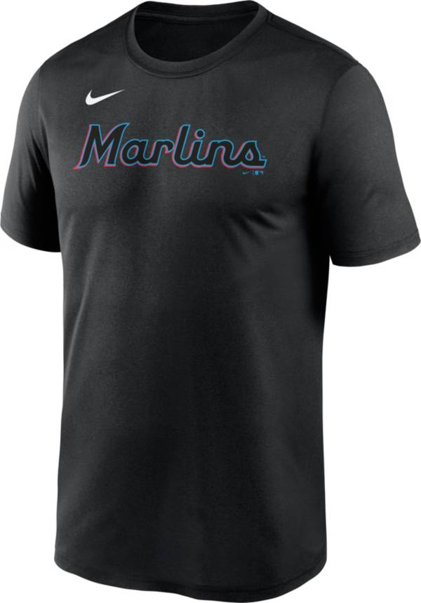Nike Men's Miami Marlins Black Wordmark Legend T-Shirt product image
