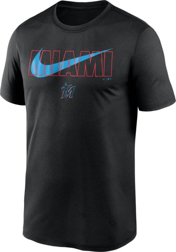 Nike Men's Miami Marlins Black Swoosh Legend T-Shirt product image