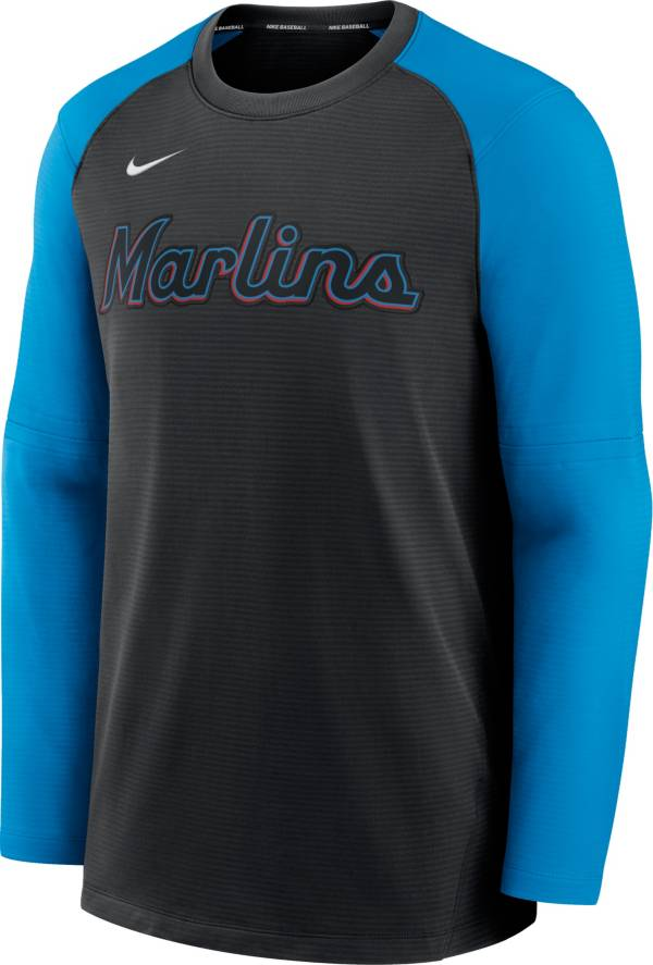 Nike Men's Miami Marlins Black Authentic Collection Pre-Game Long Sleeve T-Shirt product image