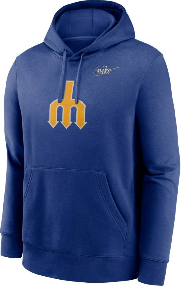 Nike Men's Seattle Mariners Blue Cooperstown Club Pullover Hoodie product image