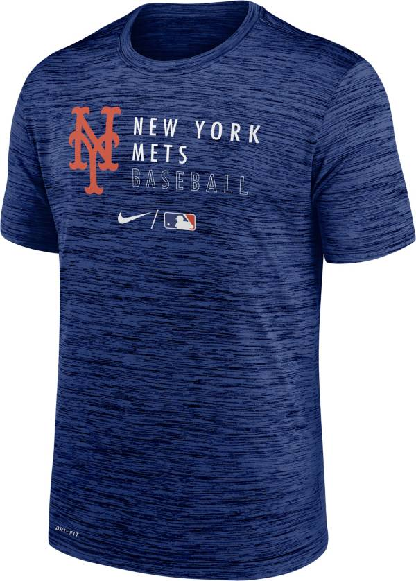 Nike Men's New York Mets Blue Authentic Collection Velocity Practice T-Shirt product image