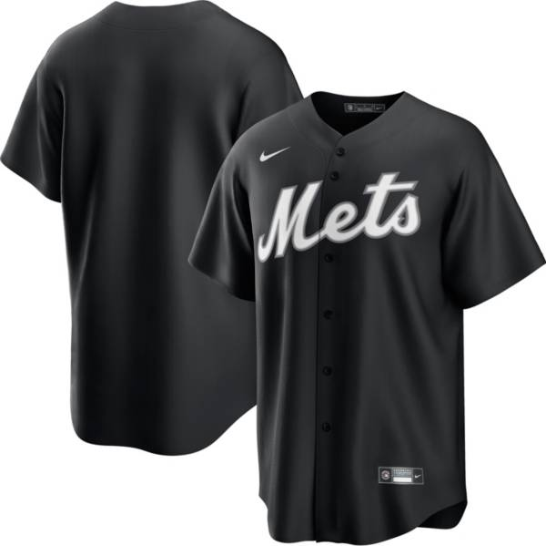 Nike Men's New York Mets Black Cool Base Jersey product image