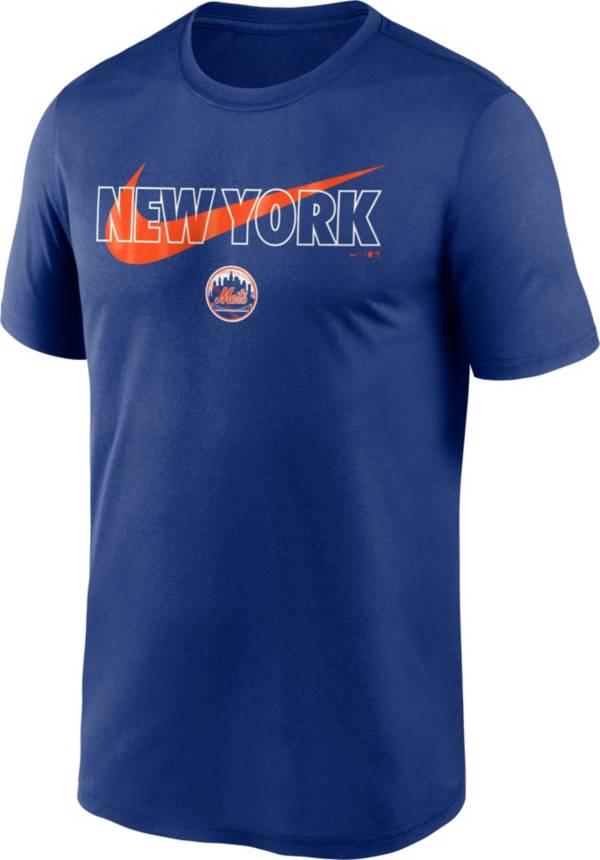 Nike Men's New York Mets Blue Swoosh Legend T-Shirt product image