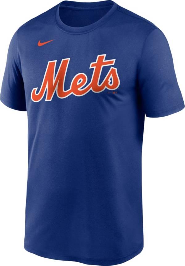 Nike Men's New York Mets Blue Wordmark Legend T-Shirt product image