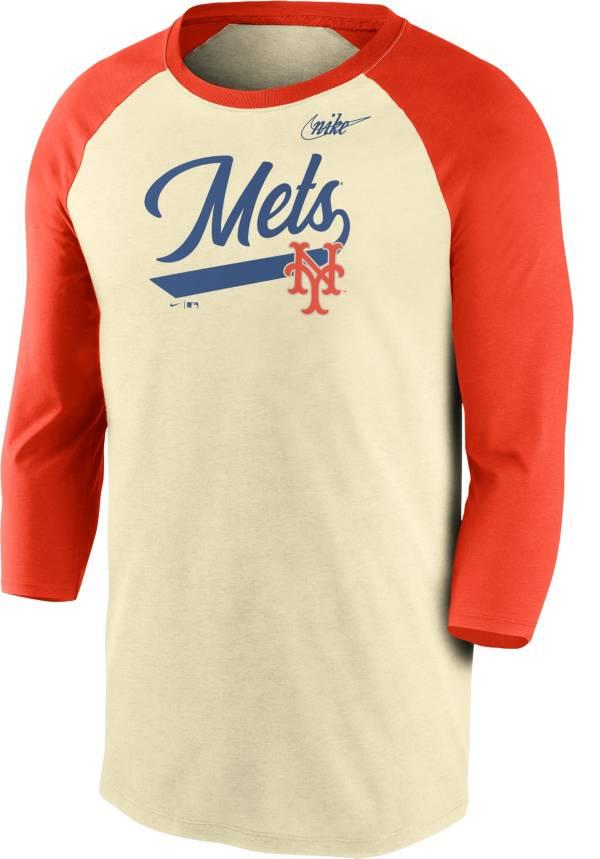 Nike Men's New York Mets  Cooperstown Raglan Three-Quarter Sleeve Shirt product image