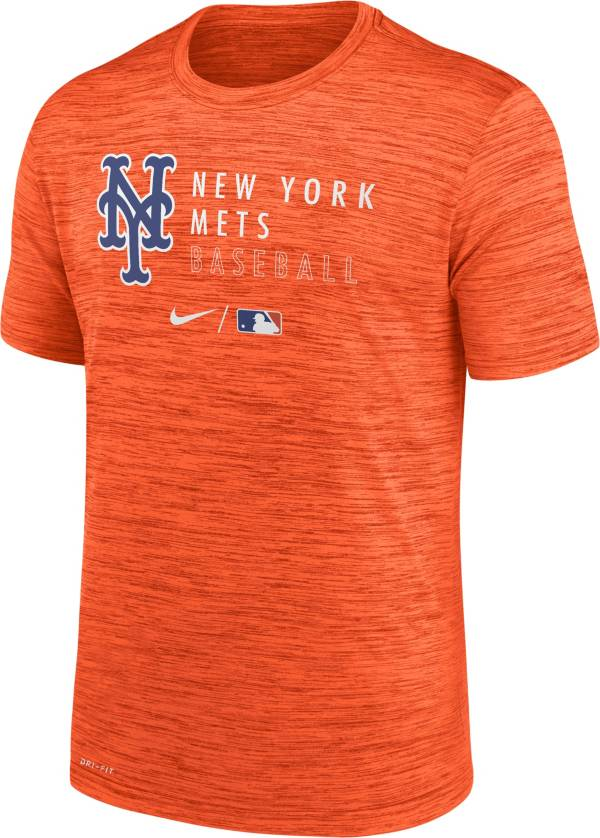 Nike Men's New York Mets Orange Authentic Collection Velocity Practice T-Shirt product image