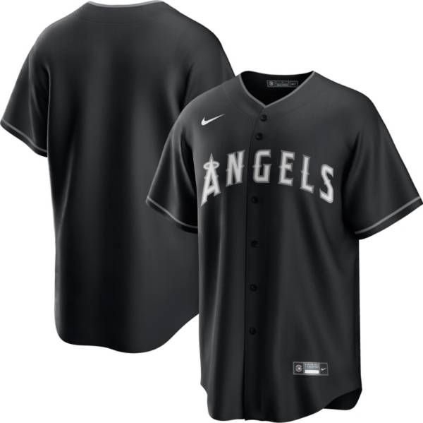 Nike Men's Los Angeles Angels Black Cool Base Jersey product image