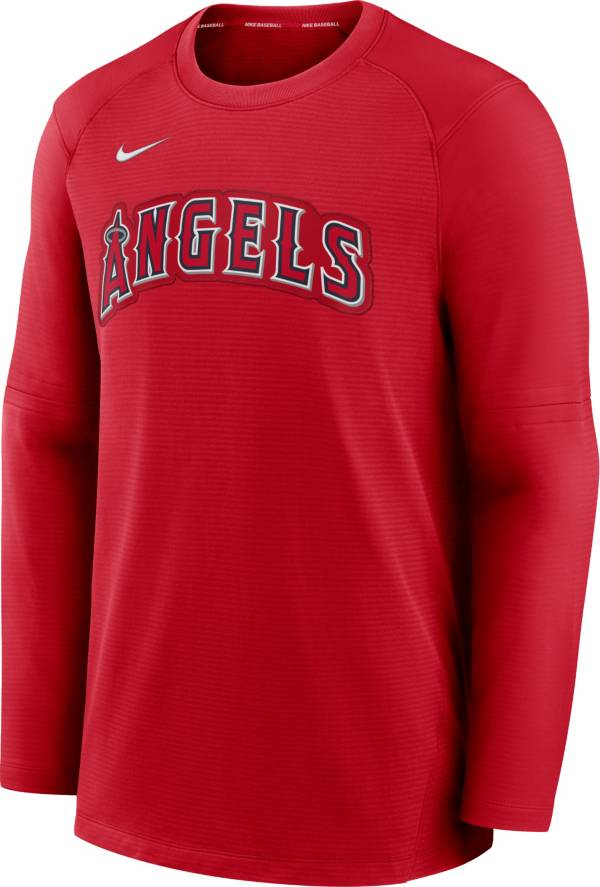 Nike Men's Los Angeles Angels Red Authentic Collection Pre-Game Long Sleeve T-Shirt product image
