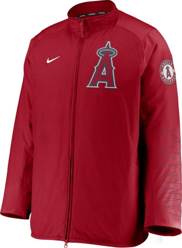 Nike Men's Los Angeles Angels Red Authentic Collection Dugout Full-Zip Jacket product image