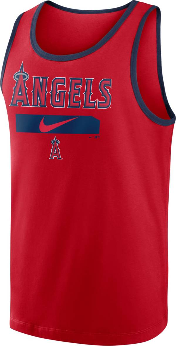 Nike Men's Los Angeles Angels Red Cotton Tank Top product image