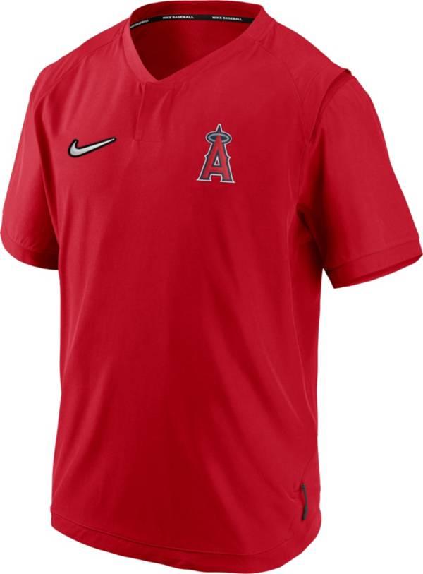 Nike Men's Los Angeles Angels Red Short Sleeve Hot Jacket product image