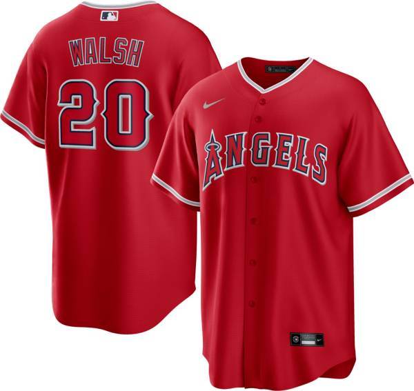 Nike Men's Los Angeles Angels Jared Walsh #20 Red Cool Base Jersey product image