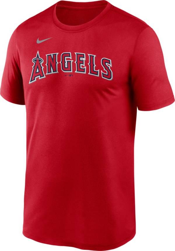 Nike Men's Los Angeles Angels Red Wordmark Legend T-Shirt product image