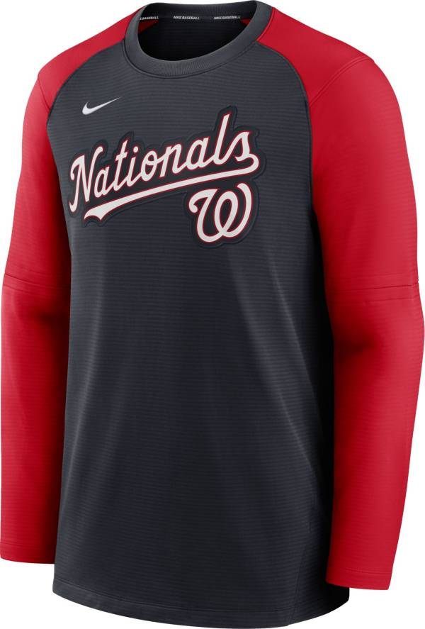 Nike Men's Washington Nationals Blue Authentic Collection Pre-Game Long Sleeve T-Shirt product image