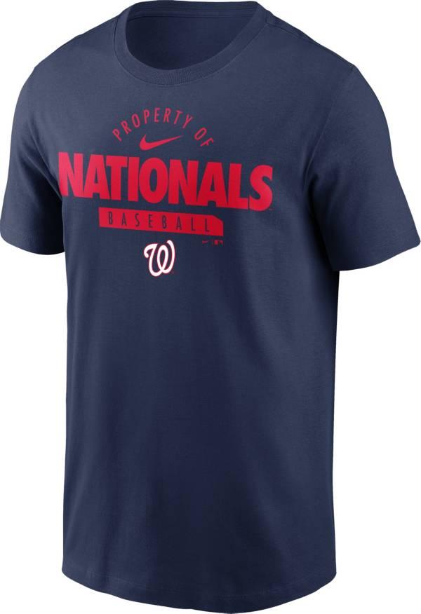 Nike Men's Washington Nationals Navy Property Logo T-Shirt product image