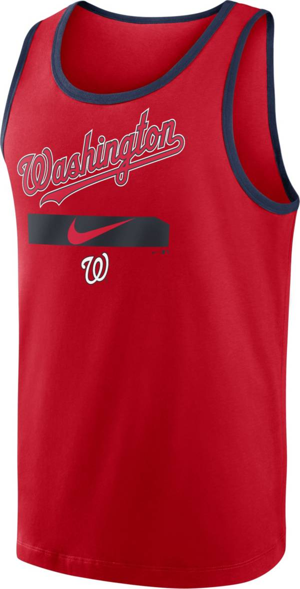 Nike Men's Washington Nationals Red Cotton Tank Top product image