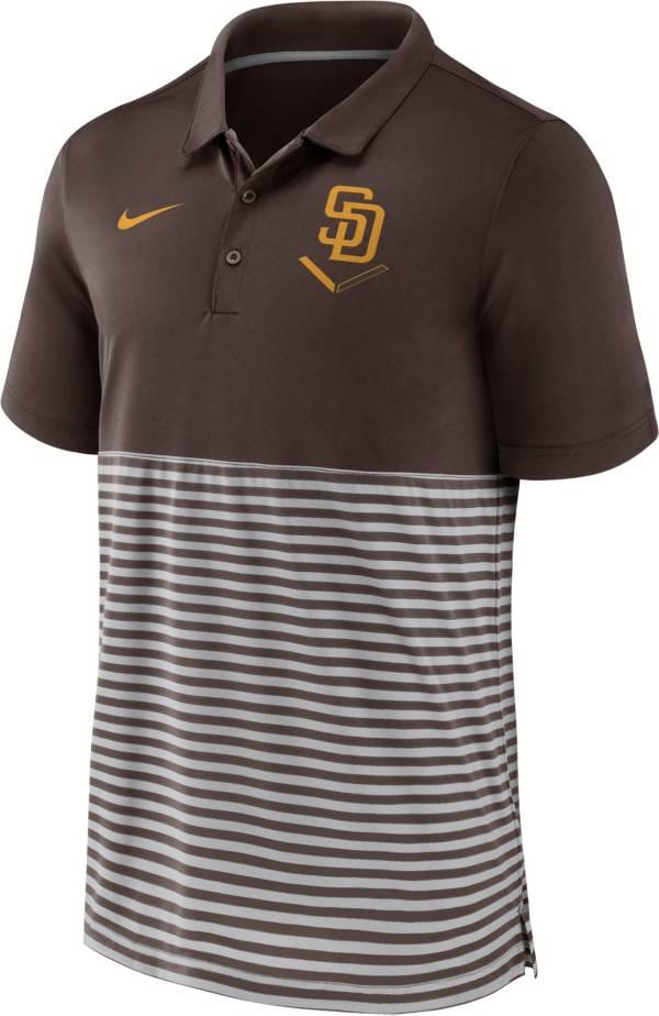 Nike Men's San Diego Padres Stripe White Polo product image
